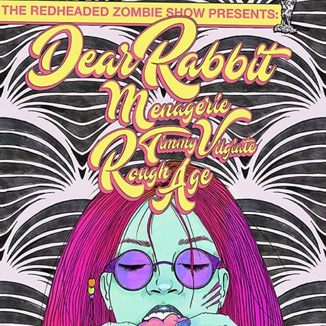 RedHeaded Zombie Show Poster 04/20/19, in Collaboration with Liv Elliott