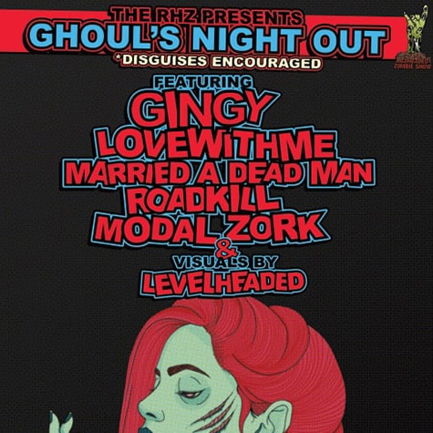 RedHeaded Zombie Show Poster 10/26/19, in Collaboration with Liv Elliott